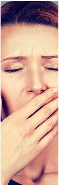 yawn, woman, tired,