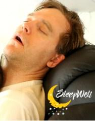 Man asleep, sleeping on chair