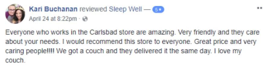 Review for Sleep Well Buchanan