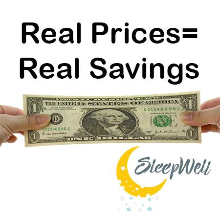 Real Prices equal Real Savings