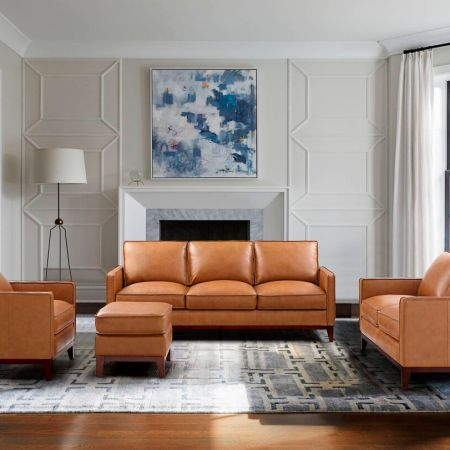 Newport Living Room Set by Leather Italia available at Live Well