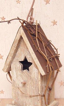 Antique White Birdhouse