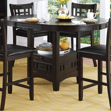Junipero Farmhouse Style Dining set in dark wood at Live Well Mattress & Furnishing Centres