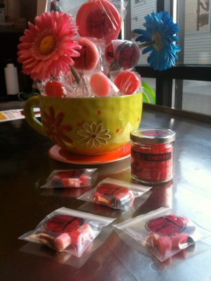 up close candy arrangement; hand made Oh My Lolli