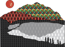 Geometric mountains vector