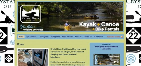 crystal river outfitters website design screenshot