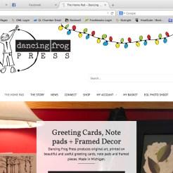 dancingfrogpress_website design_ecommerce_by Rockwell Art & Design