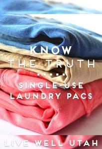 Single Use Laundry Pacs Real