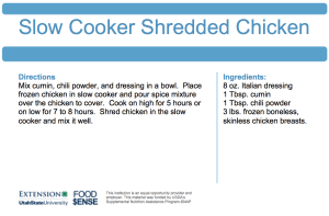 Slow Cooker Shredded Chicken and RICE