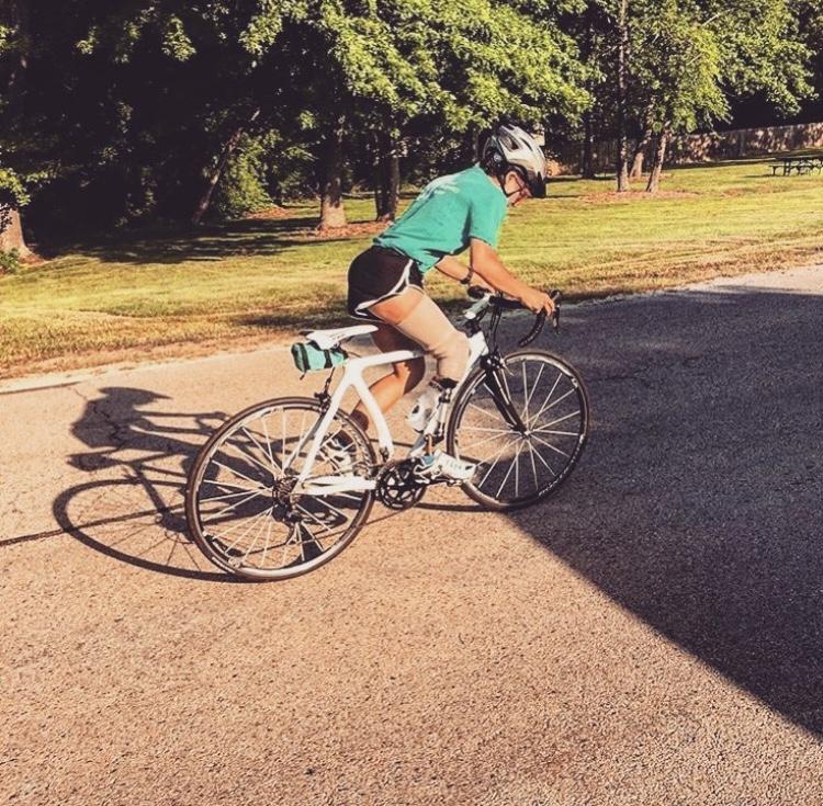amputee biking, bicycle, race, triathlon
