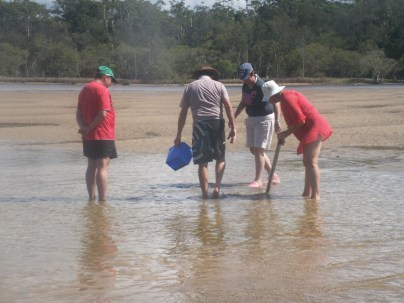 on the hunt for yabbies