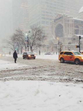 Snow Storm on Park Avenue NYC