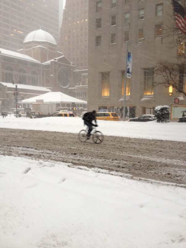 Riding in Snow NYC