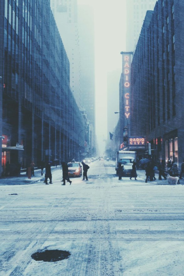Radio City Snow Storm NYC