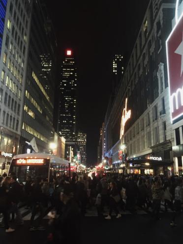 NYC People Crossing Street