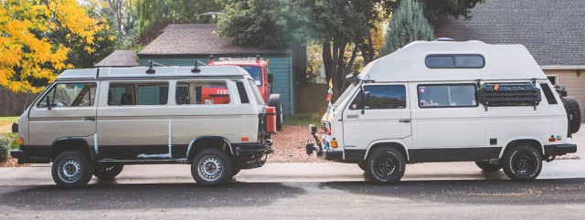 ripley the syncro vanagon and falkor the 2wd vanagon