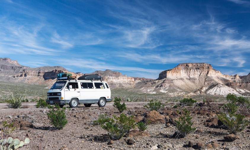 Vanagon at Big Bend