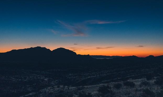 Sunrise in Big Bend