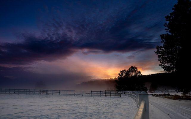 Winter Sunset in Oregon