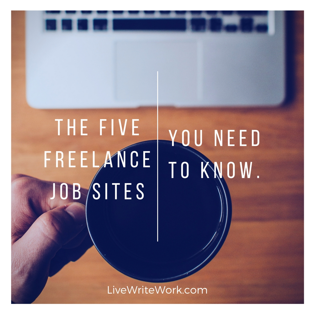 the five lance writing job sites you need to know live editing services