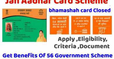 Bhamashah card scheme closed, now Jan Aadhaar card will be made. Jan Aadhar card scheme, eligibility criteria and apply online