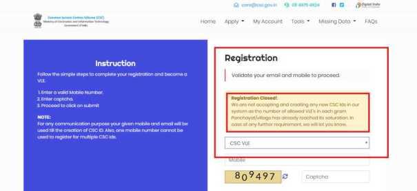CSC-new-registration-process- CSC digital seva portal ID, emitra