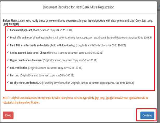 Document-Required-for-New-Bank-Mitra-Registration