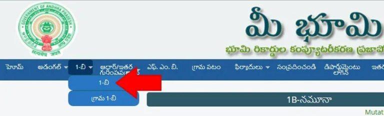 ap-ror-land-record, Mee Bhoomi Online Portal, meebhoomi ap portal