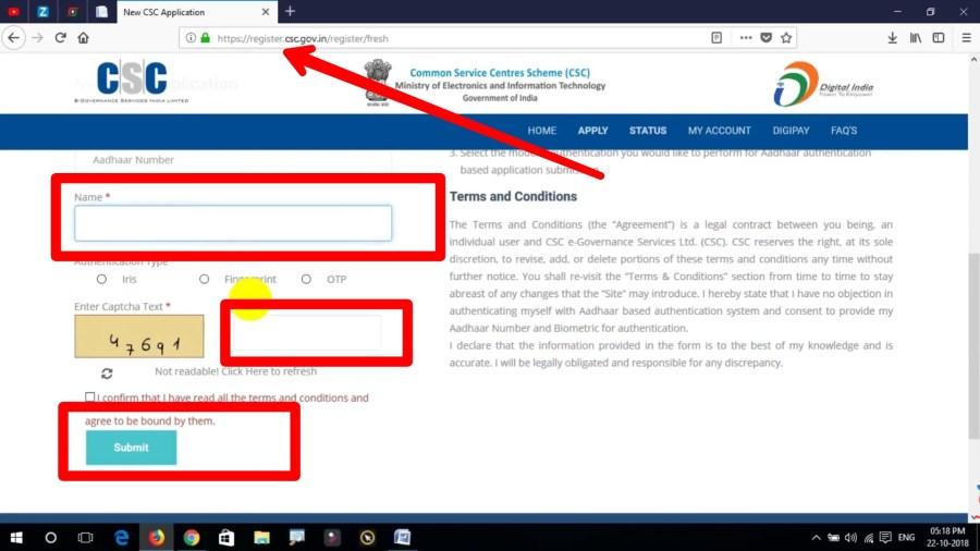 CSC registration process