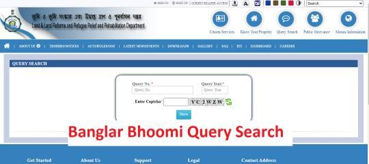 Banglar-Bhoomi-Query, West Bengal banglarbhumi land , Banglarbhumi ROR Application