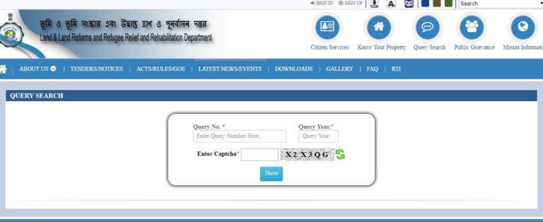Know-Your-Property-banglarbhumi-wb, West Bengal banglarbhumi land , Banglarbhumi Portal Registration