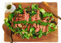 Skirt Steak Salad- Live Young Lifestyle