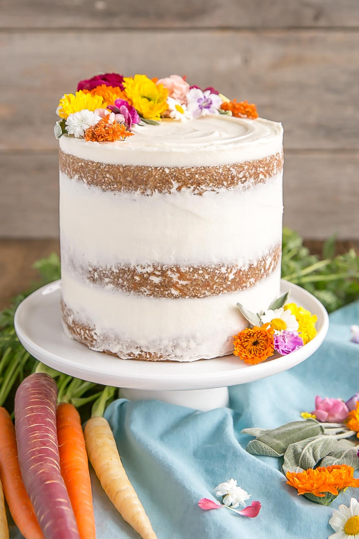 Decorating Carrot Cake