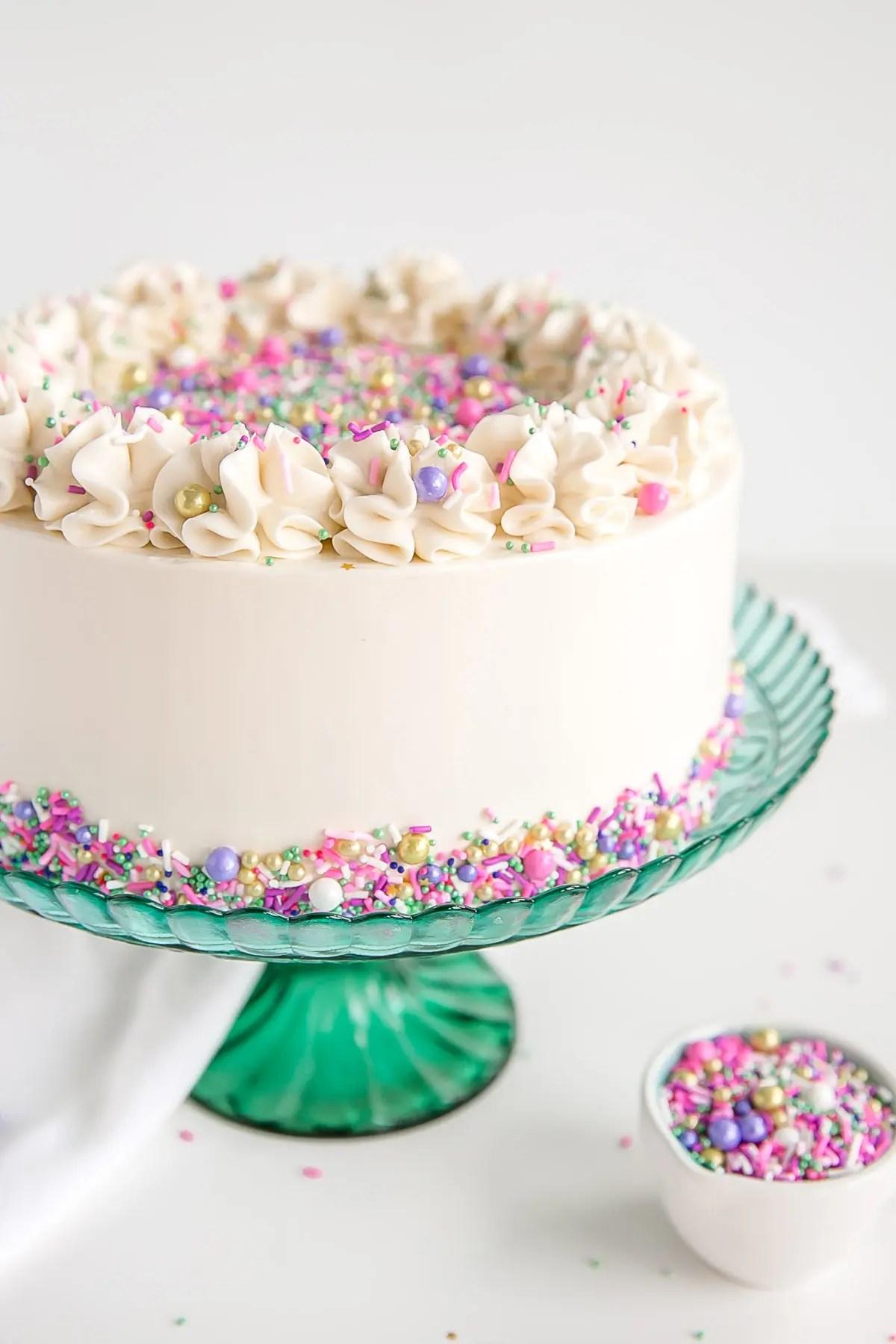 Classic White Cake Liv For Cake