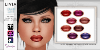LIVIA Splash Lipsticks :: L$40