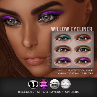 LIVIA::Willow Eyeliner [Tattoo Layers + Appliers]