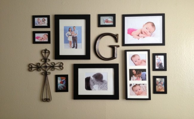 Amazing Wall Picture Collage Ideas With Metal Ornament And