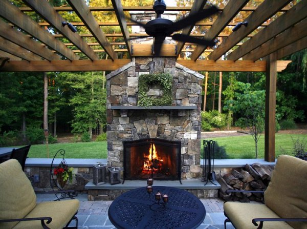 outdoor living space with fireplace Creating an Outdoor Living Space