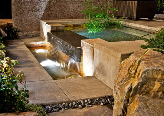 relax with backyard water feature