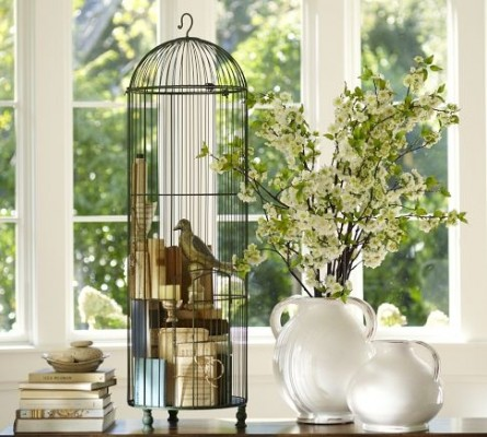 Decorating with Vintage Bird Cages