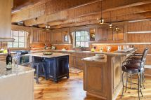 Kitchen Rustic Interior Log Cabin Homes