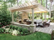 Pergola Patio with Fireplace