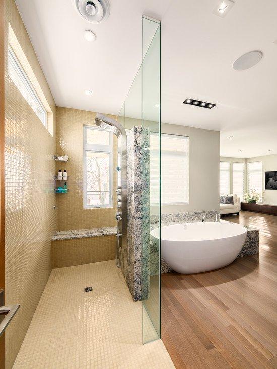 Open Bathroom Concept for Master Bedrooms