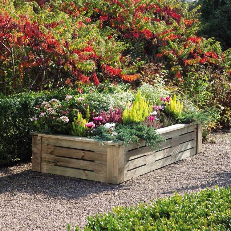 Backyard Raised Flower Beds Flowers Ideas