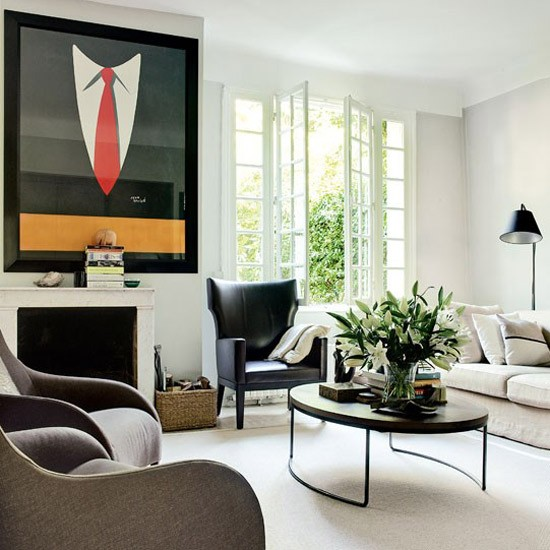art in living room the most beautiful world creating an deco main feature of this is heavy contrast between black and cream housetohome