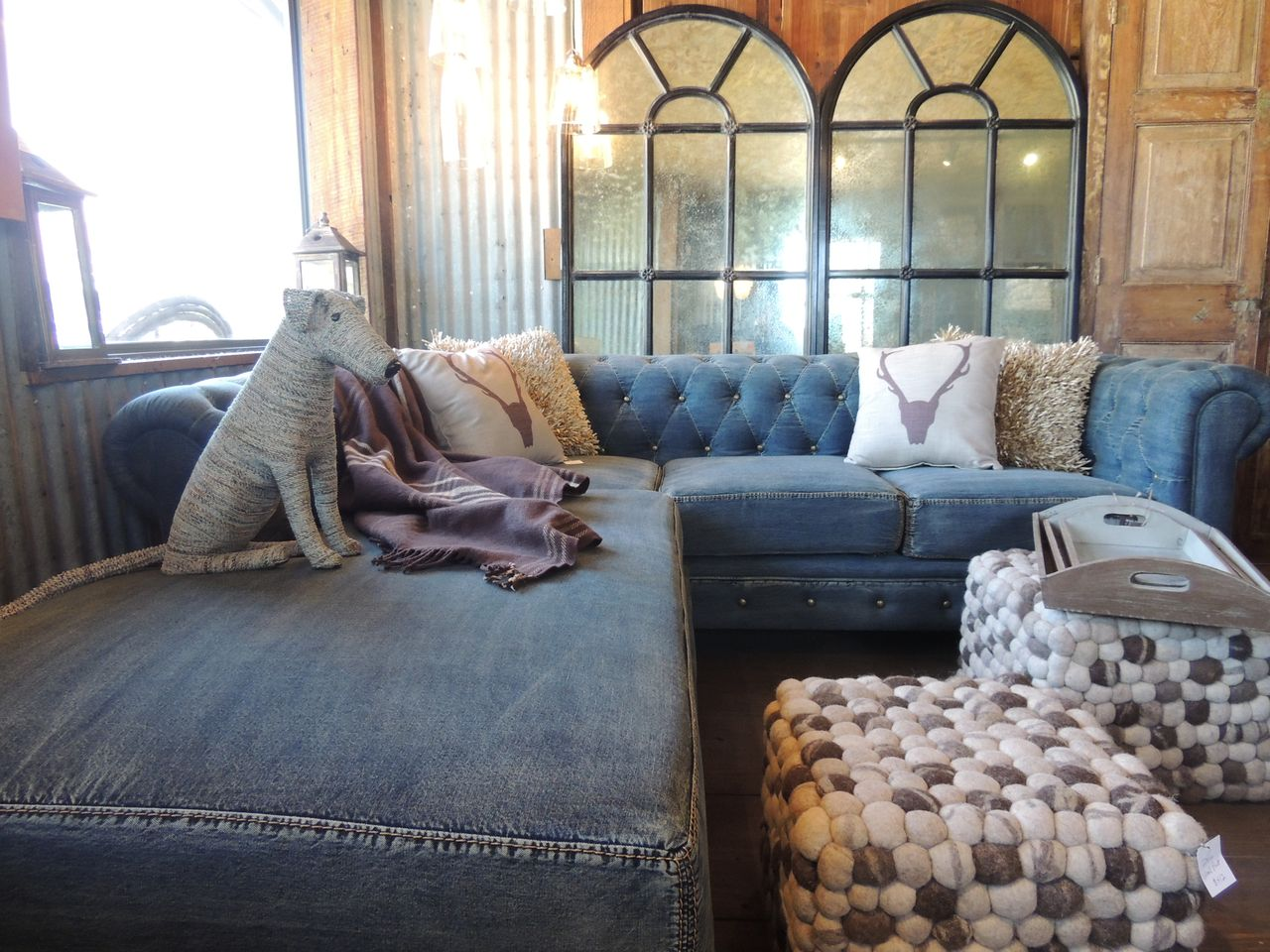 sectional sofa value city furniture leather cleaners sheffield indigo blue and denim for your home