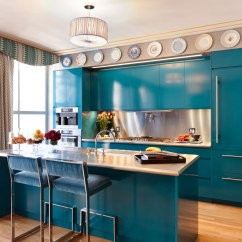 Colorful Kitchen Cabinets Walnut Island Transform Your With Color