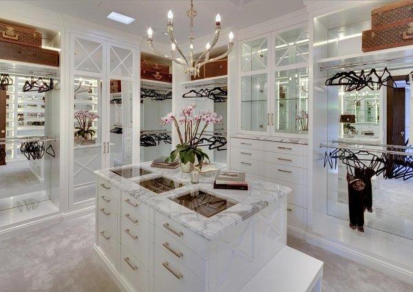 Luxury Walk-In Closet with Island