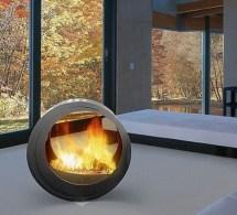 Round Fireplace Designs Ideas