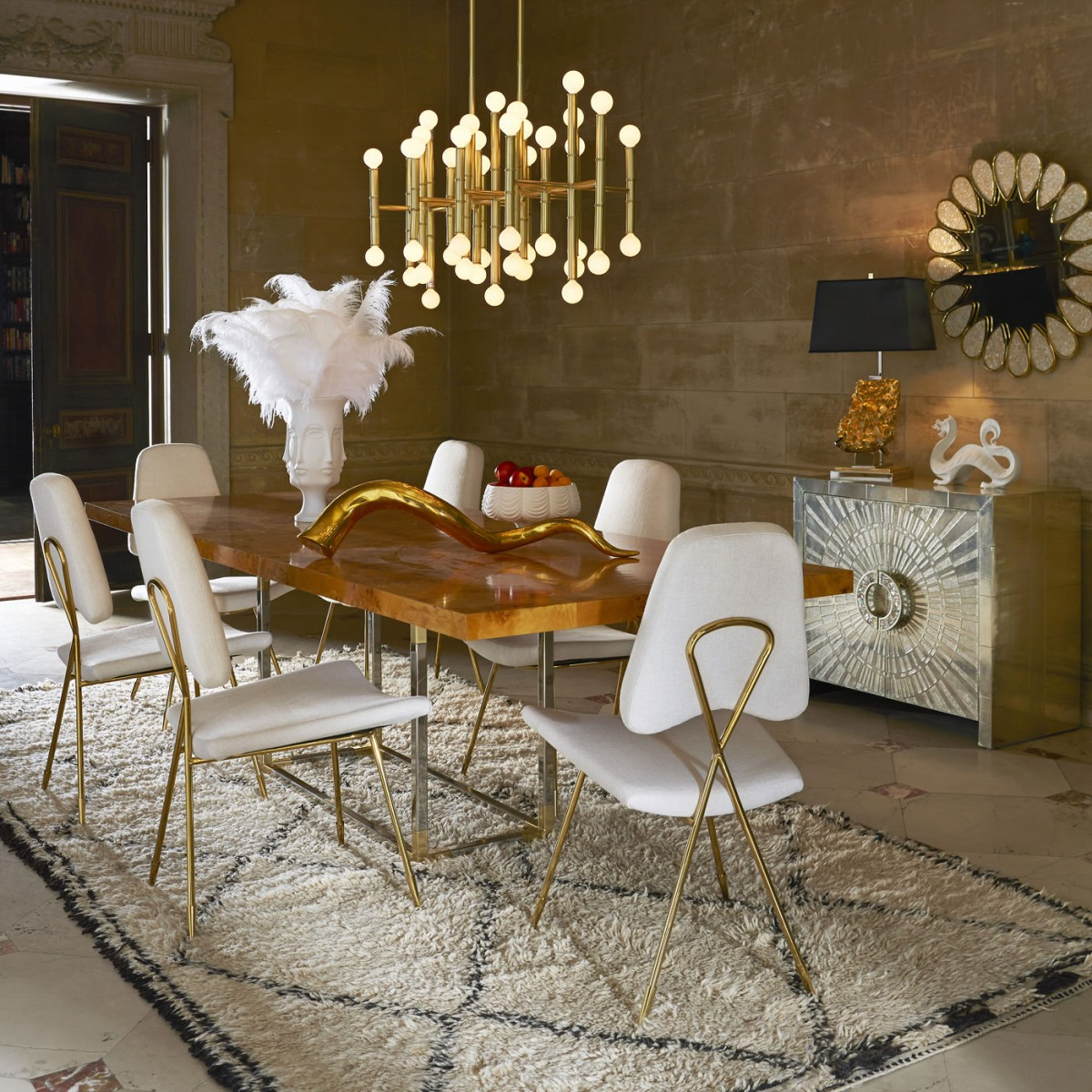 jonathan adler chair white slip covered dining room chairs designer focus king of happy chic